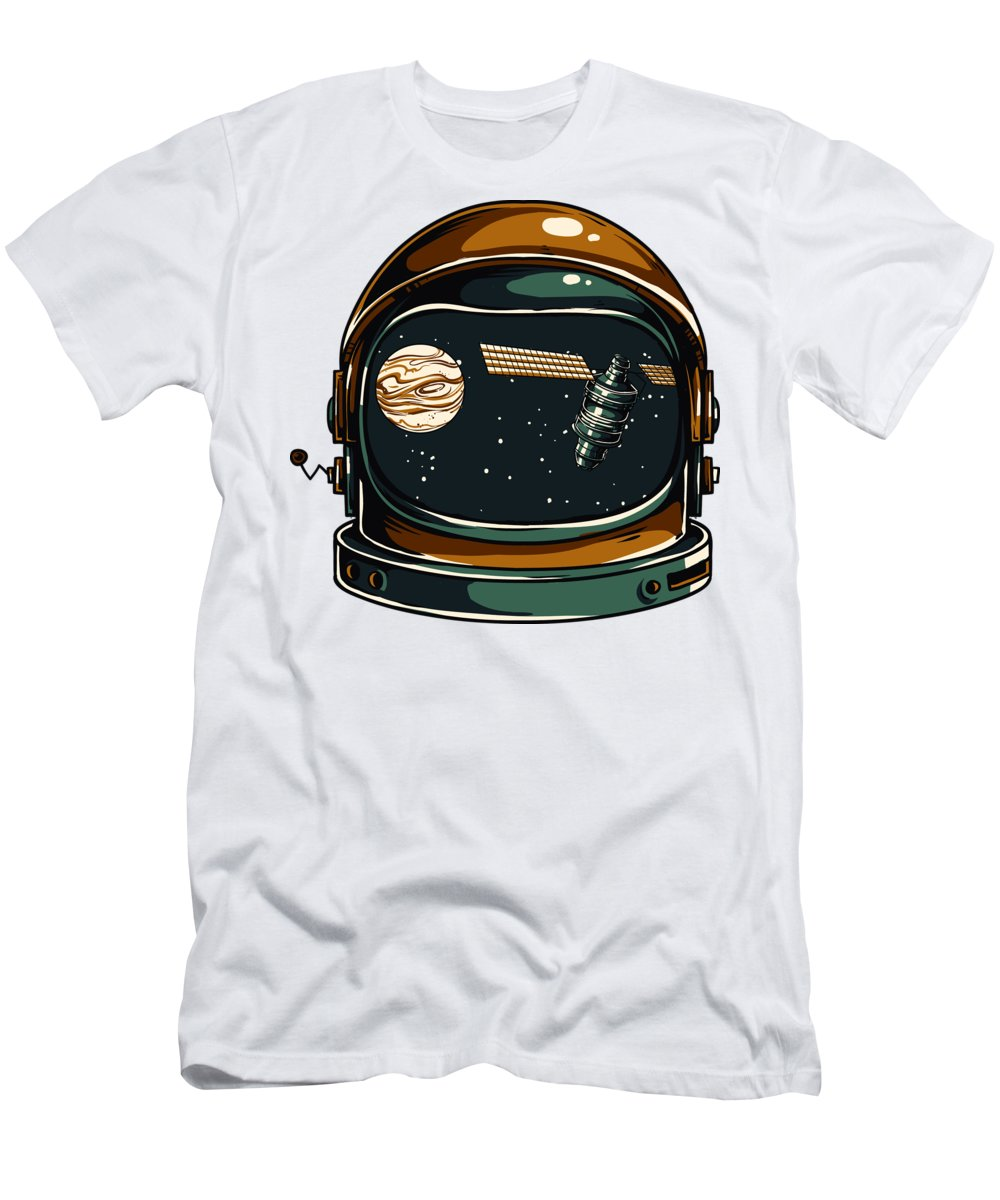 Spaceman Men's T-Shirt (Athletic Fit) featuring the digital art Astronaut by Passion Loft