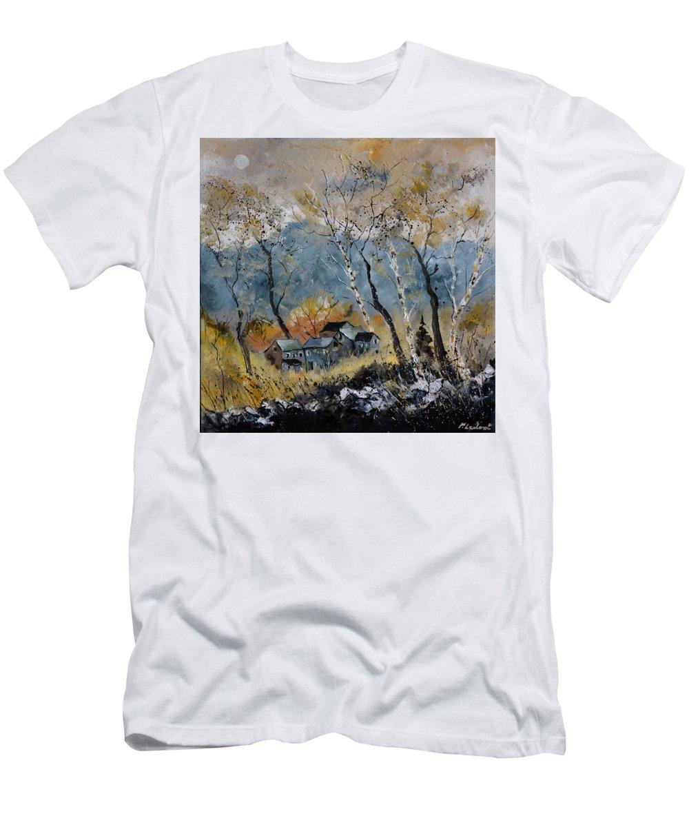 Landscape T-Shirt featuring the painting Autumn 668101 by Pol Ledent