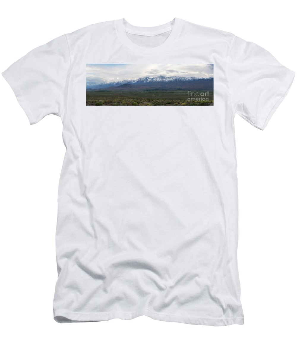 Owens Valley T-Shirt featuring the photograph Big Pine California Overlook by Michael Ver Sprill
