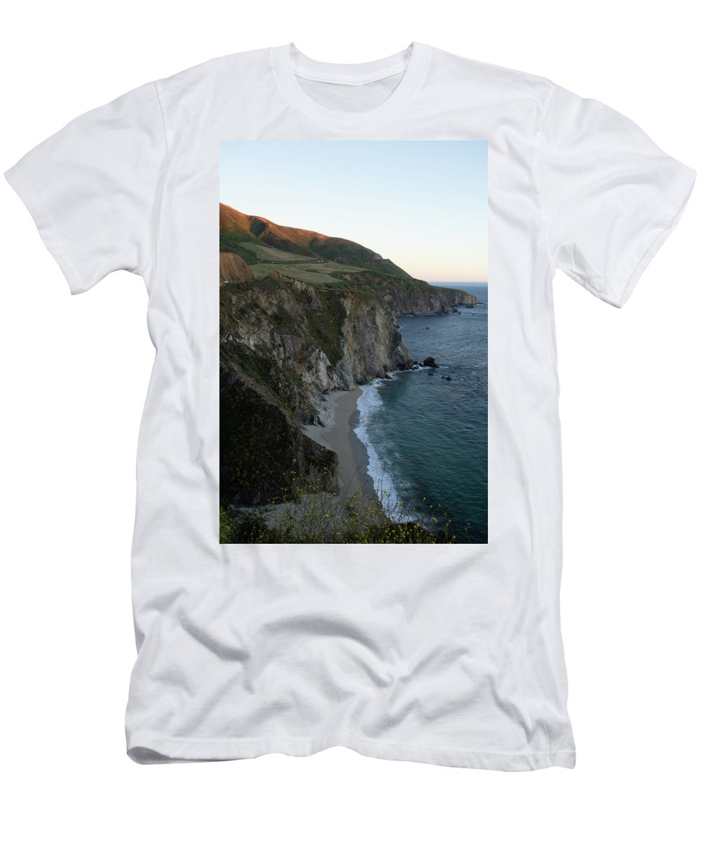 California T-Shirt featuring the photograph Bixby Creek At Twilight by Marie Leslie