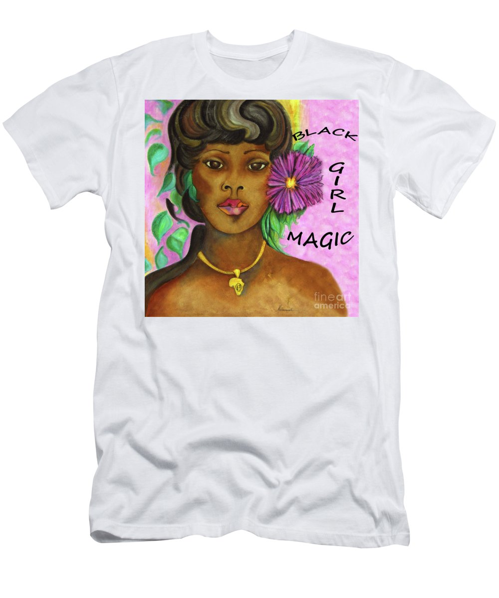 Figure Men's T-Shirt (Athletic Fit) featuring the painting Black Girl Magic by Marcella Muhammad