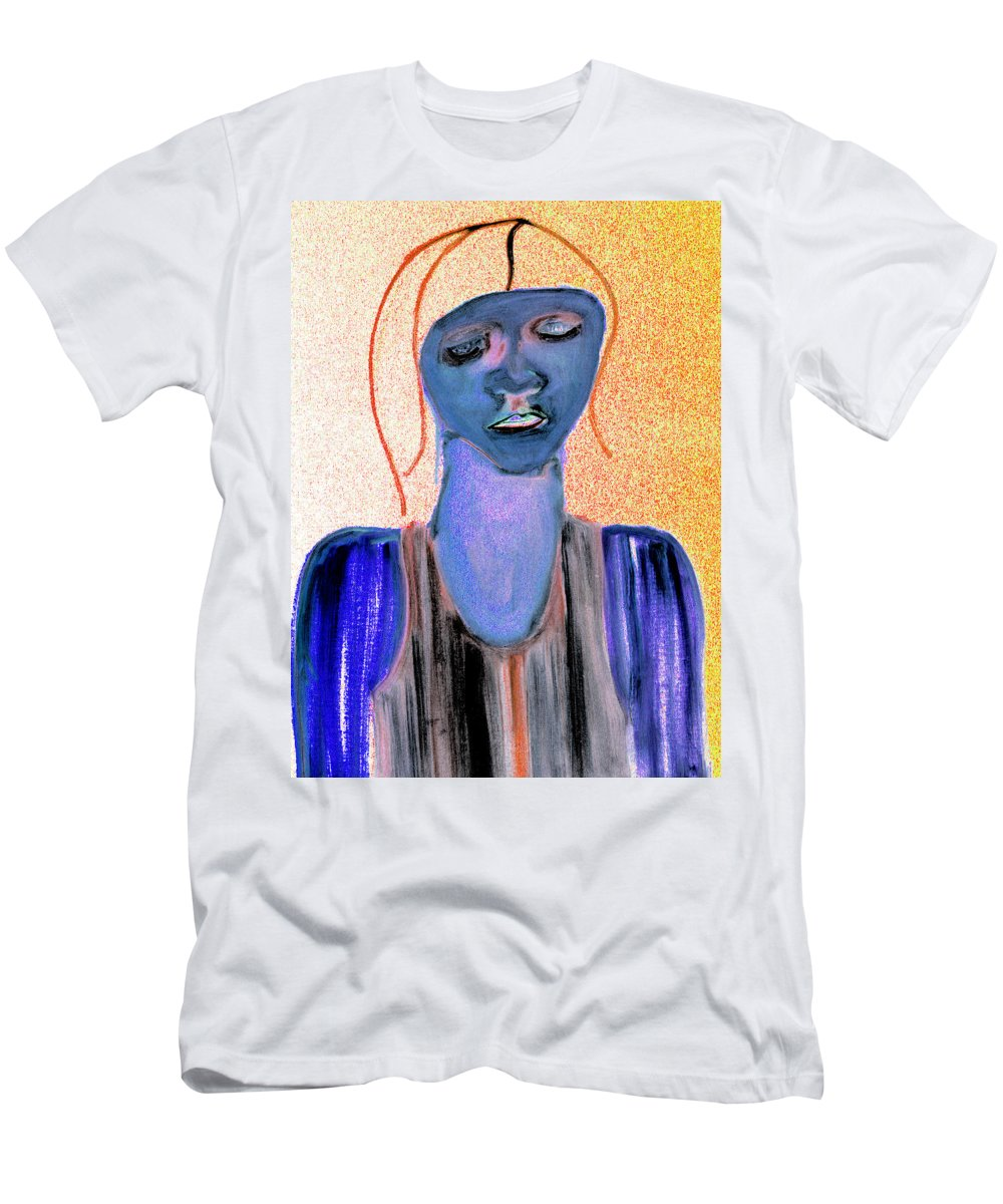 Blue Woman Men's T-Shirt (Athletic Fit) featuring the photograph Blue Woman by Artist Dot