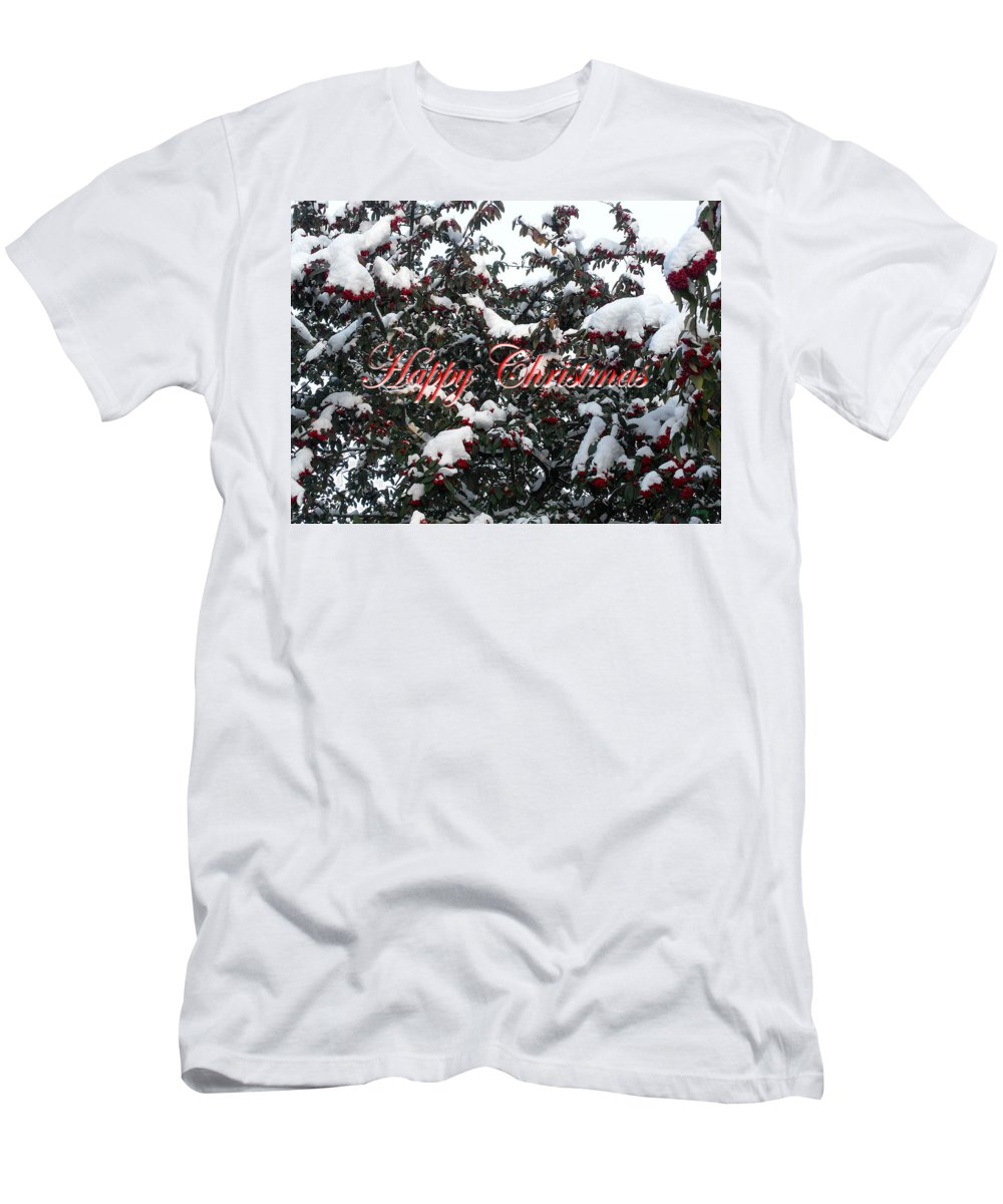 Christmas Men's T-Shirt (Athletic Fit) featuring the photograph Happy Christmas 12 by Patrick J Murphy
