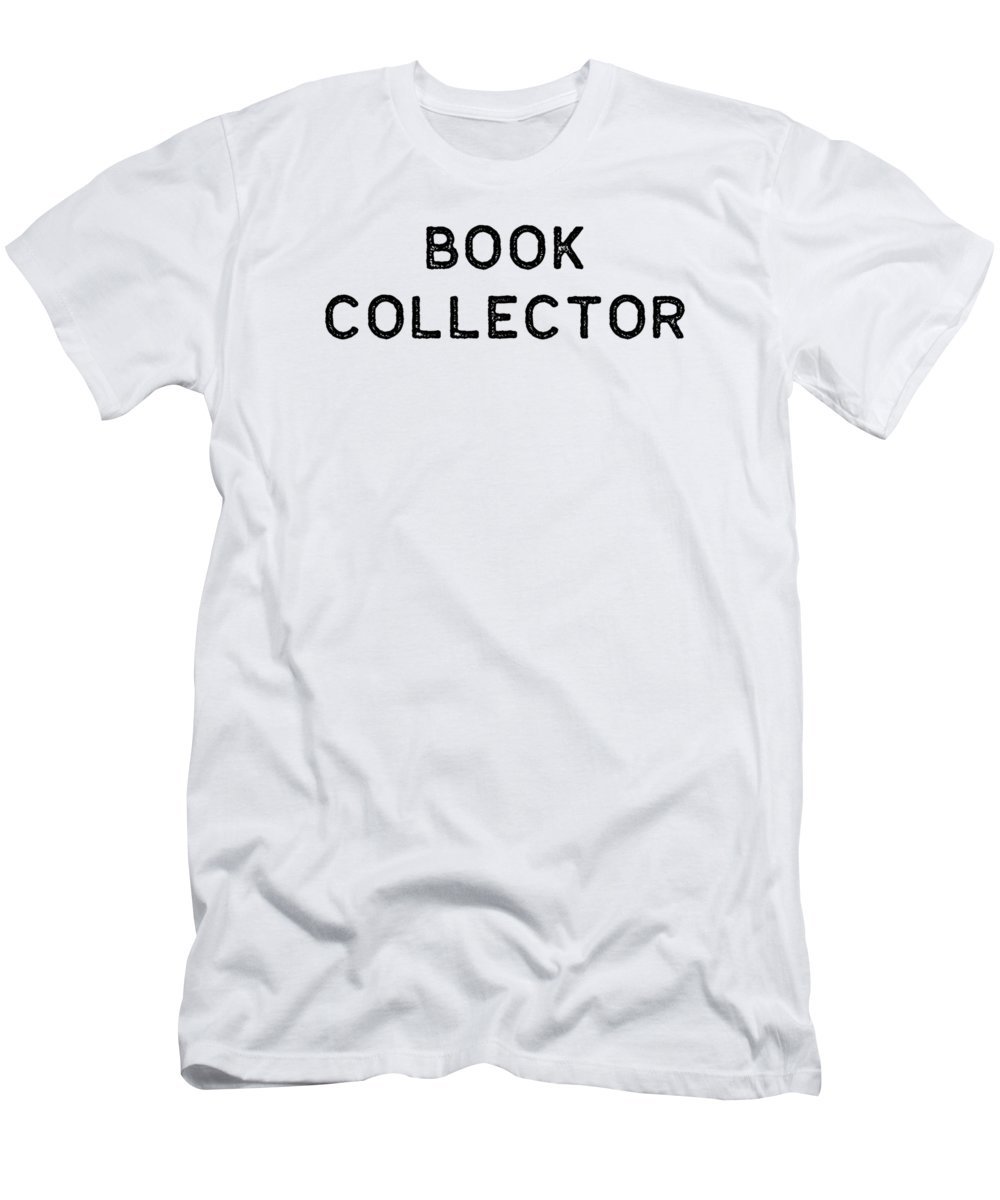 Teacher Men's T-Shirt (Athletic Fit) featuring the digital art Book Shirt Collector Dark Reading Authors Librarian Writer Gift by J P