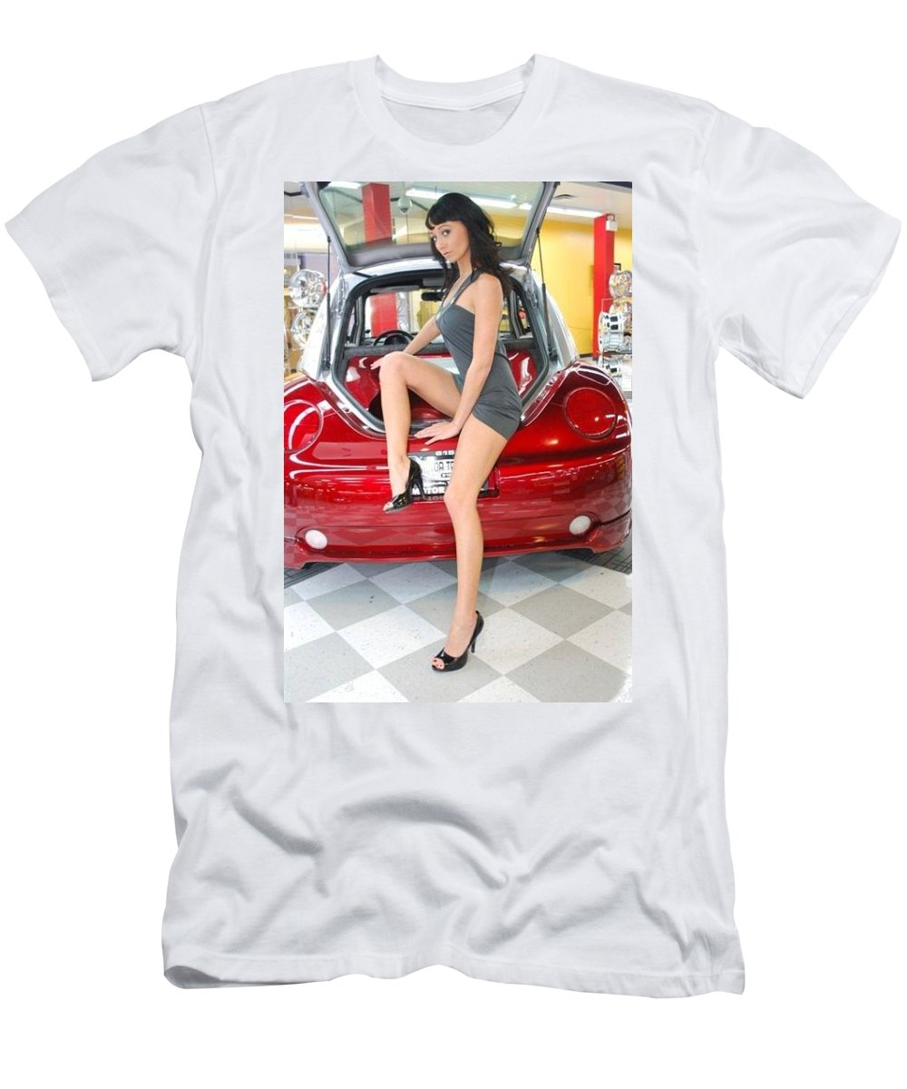 T-Shirt featuring the photograph Car sound show by Tom Hufford