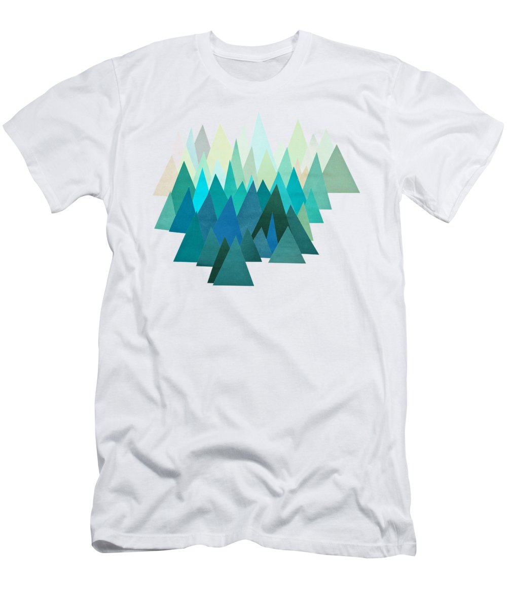 Mountains T-Shirt featuring the mixed media Cold Mountain by Cassia Beck
