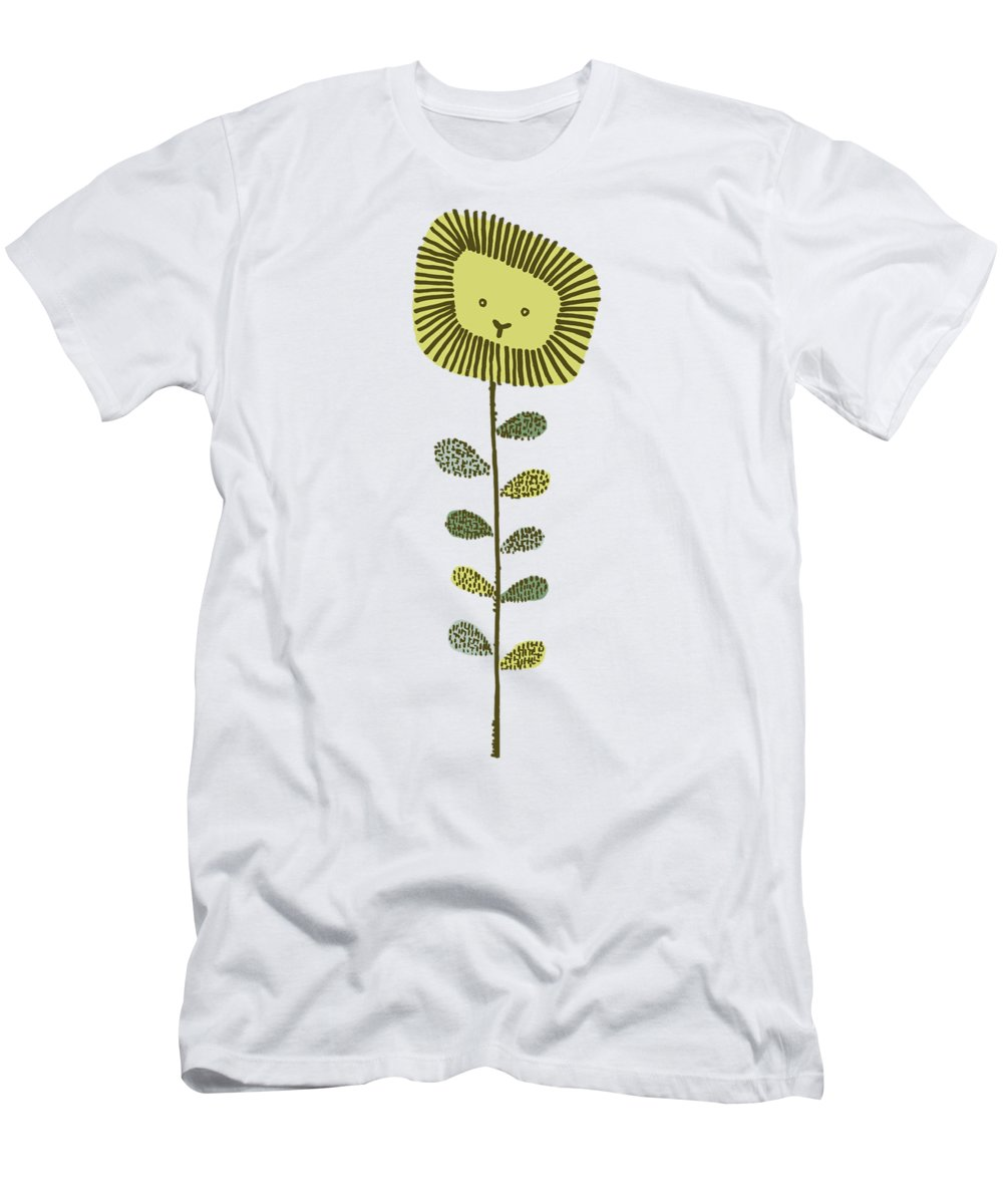 Lion T-Shirt featuring the drawing Dandy by Eric Fan