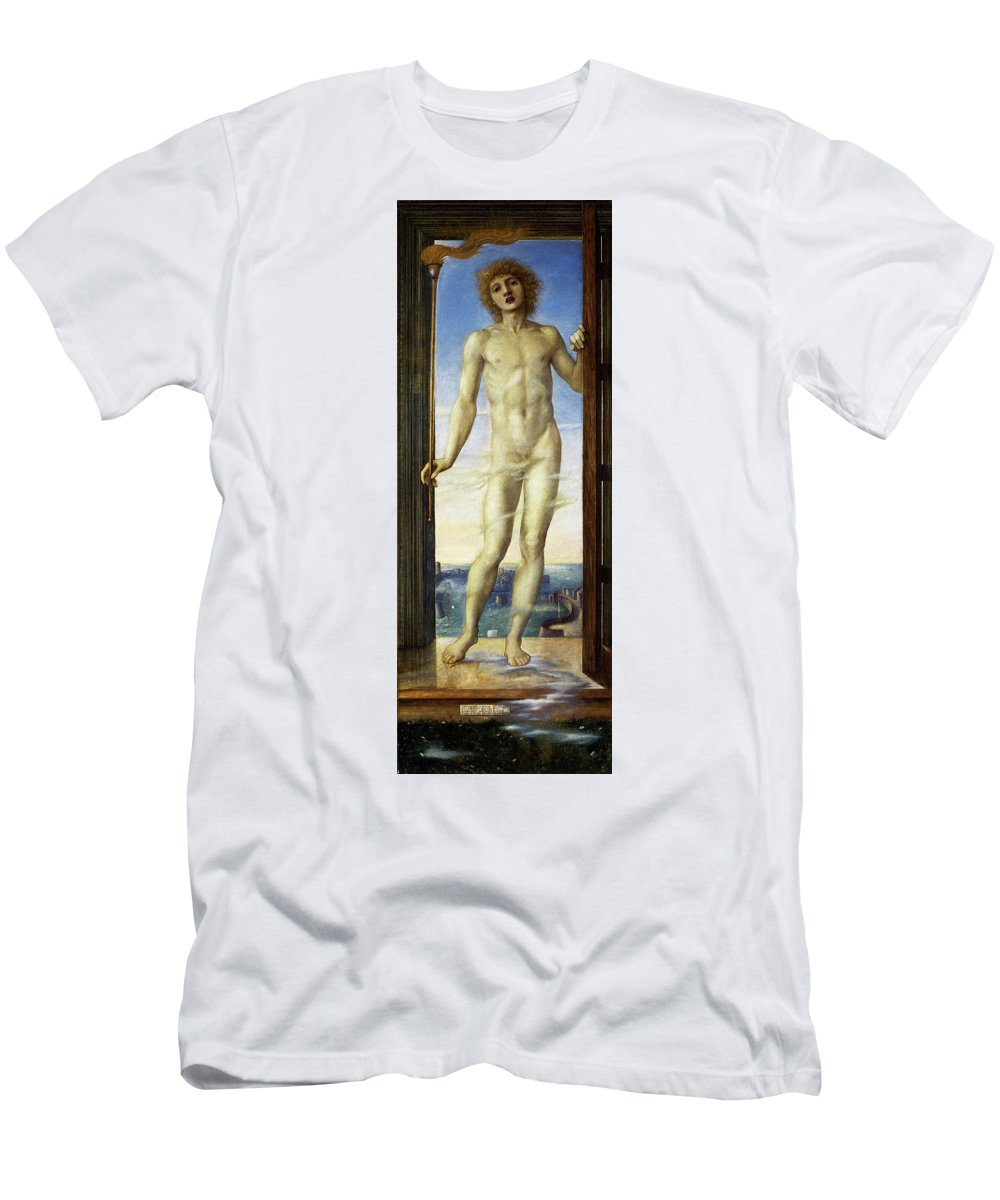 Day T-Shirt featuring the painting Day - Digital Remastered Edition by Edward Burne-Jones