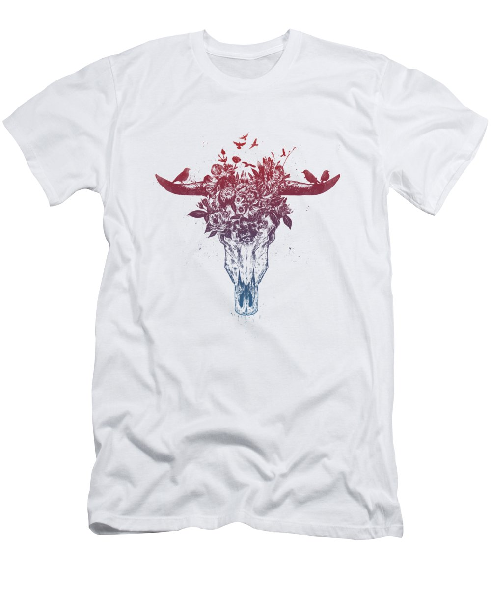 Bull T-Shirt featuring the drawing Dead summer by Balazs Solti