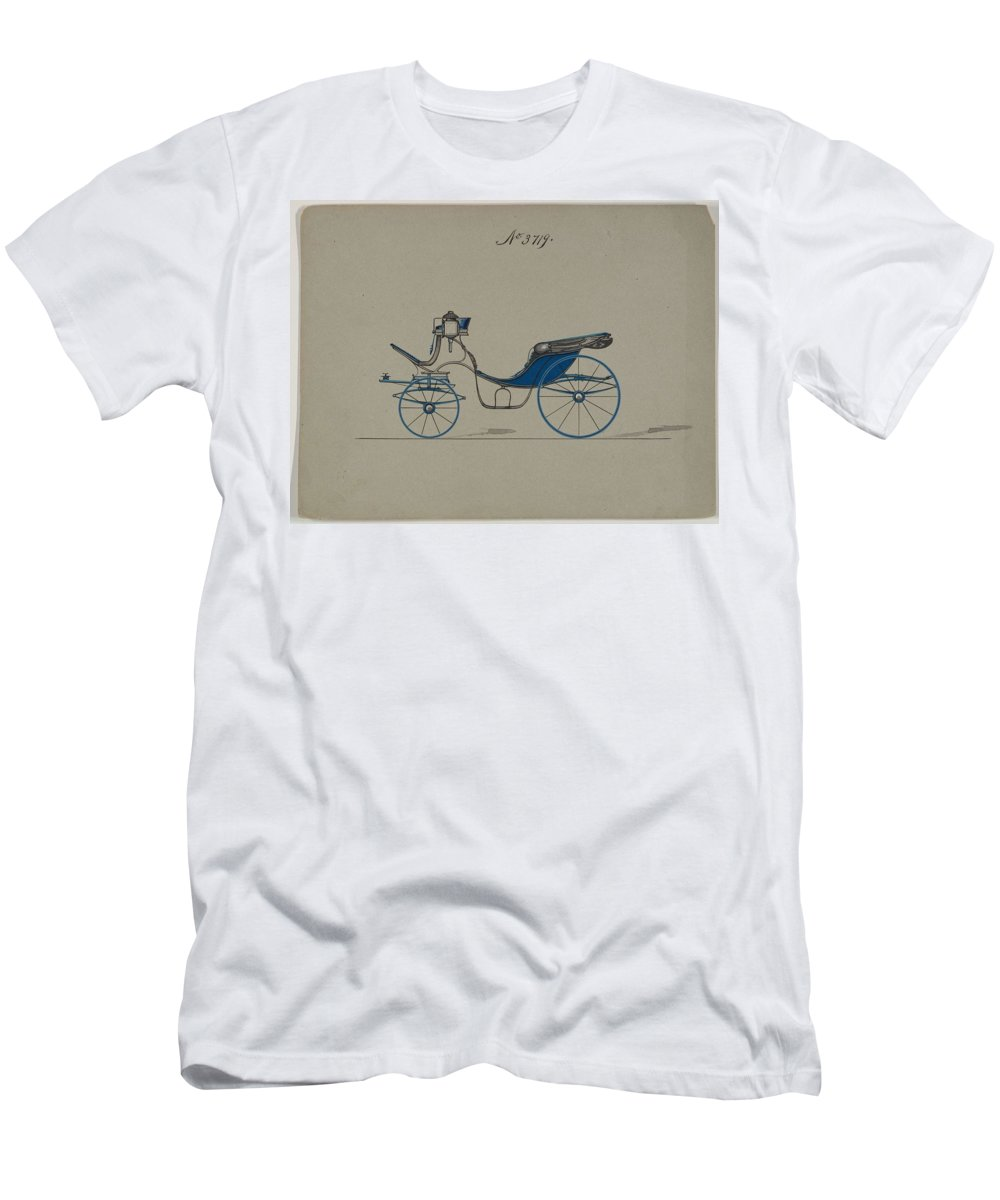 Vintage Men's T-Shirt (Athletic Fit) featuring the painting Design For Cabriolet Or Victoria, No. 3719 Brewster And Co. American, New York by Brewster and Co