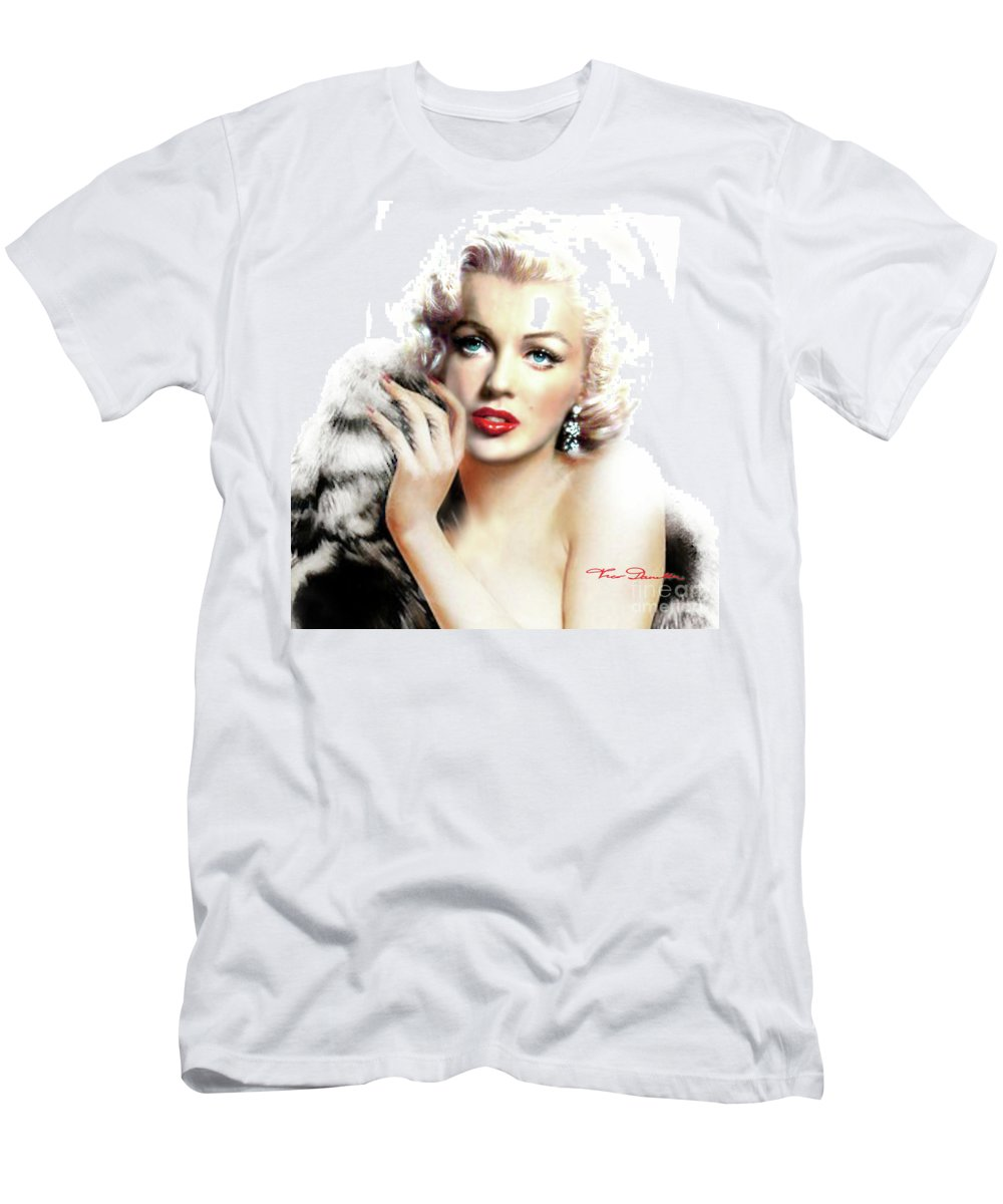 Marilyn Monroe Men's T-Shirt (Athletic Fit) featuring the painting Diva Mm Bright by Theo Danella