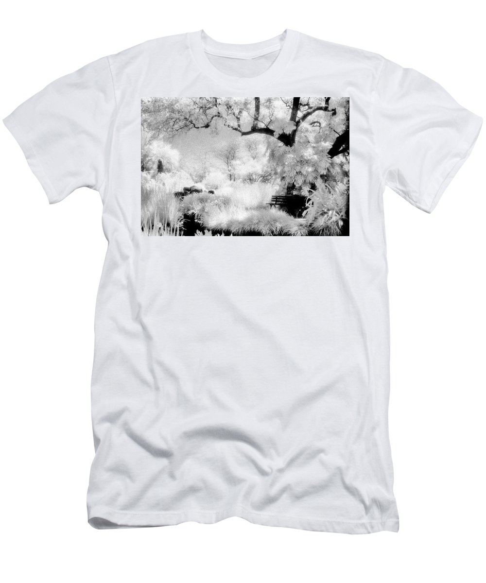 Infrared Men's T-Shirt (Athletic Fit) featuring the photograph Dreamy Gardens - 1006 by Paul W Faust - Impressions of Light
