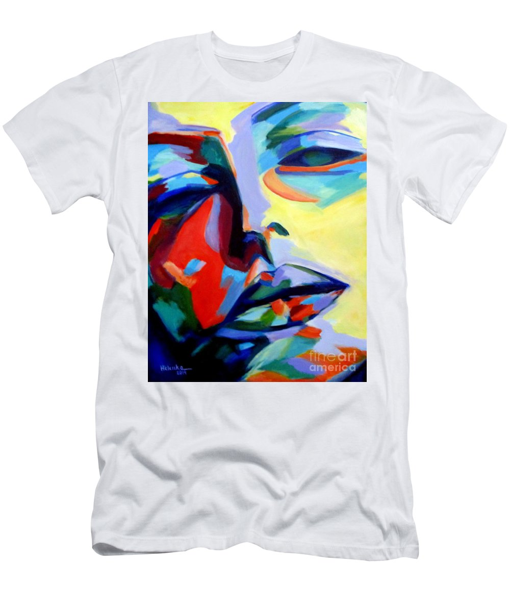 Affordable Original Art Men's T-Shirt (Athletic Fit) featuring the painting Drifting Into A Dream by Helena Wierzbicki