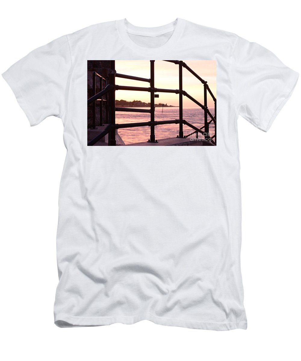 Railings T-Shirt featuring the photograph Early Morning Railings by Andy Thompson
