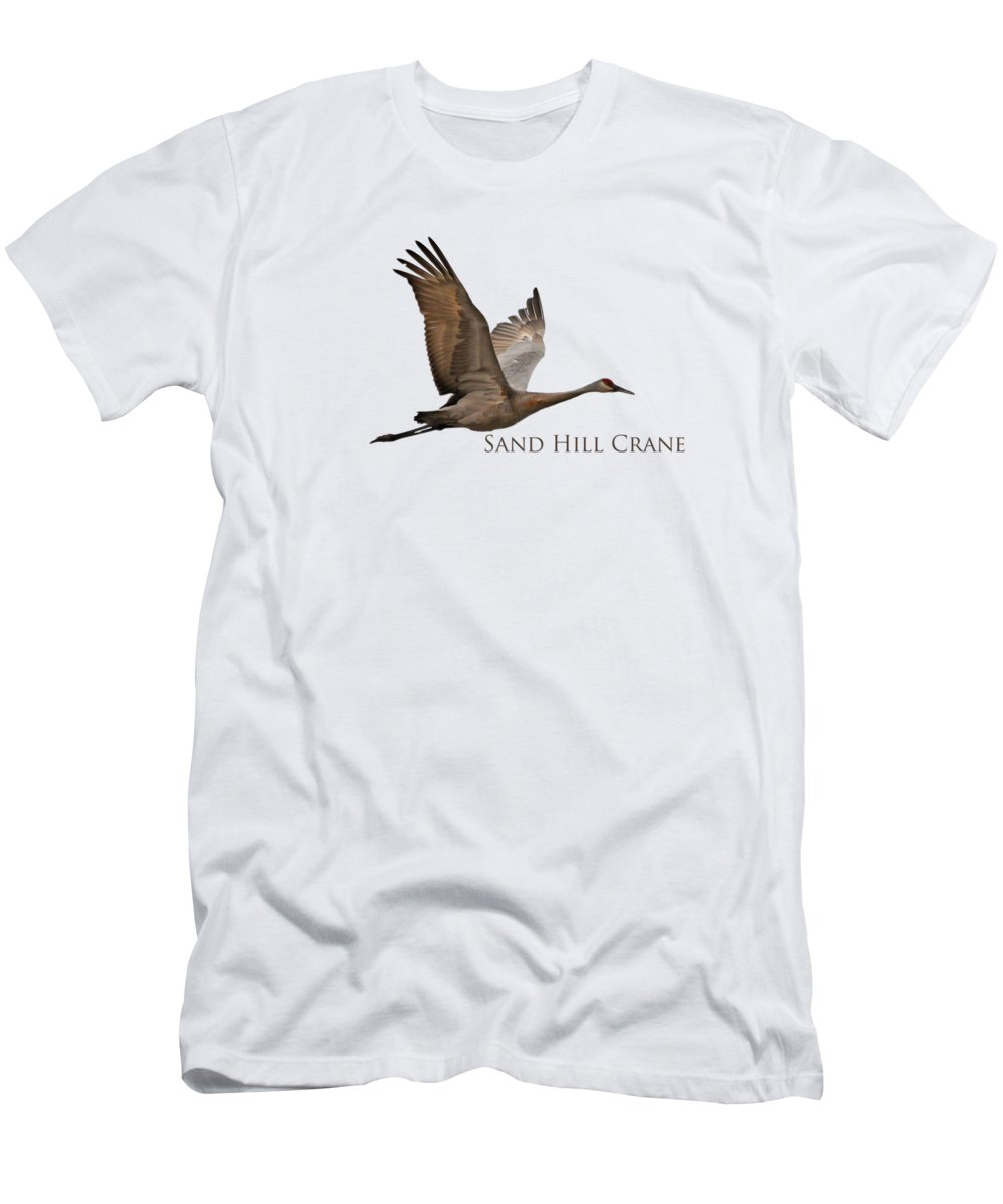 Flight Men's T-Shirt (Athletic Fit) featuring the photograph Flight Of The Sandhill Crane by Whispering Peaks Photography
