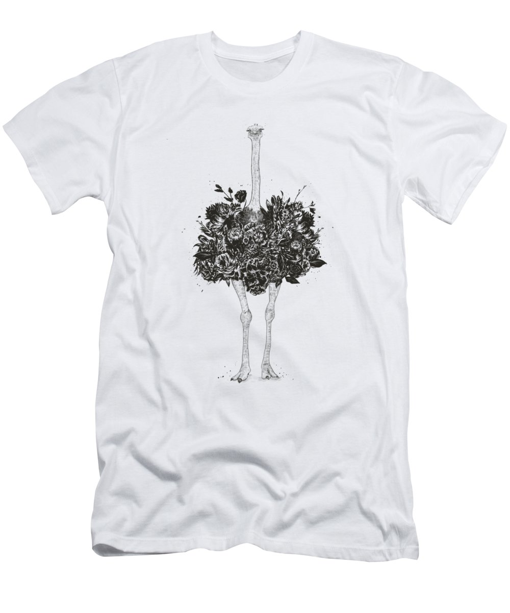 Black And White Nature Drawings T-Shirts
