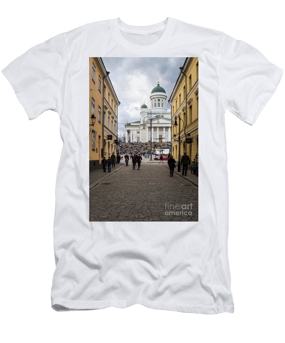 Ancient Men's T-Shirt (Athletic Fit) featuring the photograph Helsinki Streets by Didier Marti