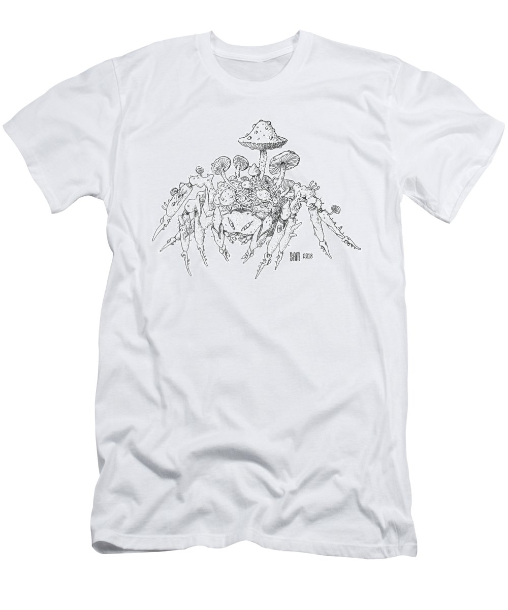 Spider T-Shirt featuring the drawing Infested Spider by Sami Matilainen