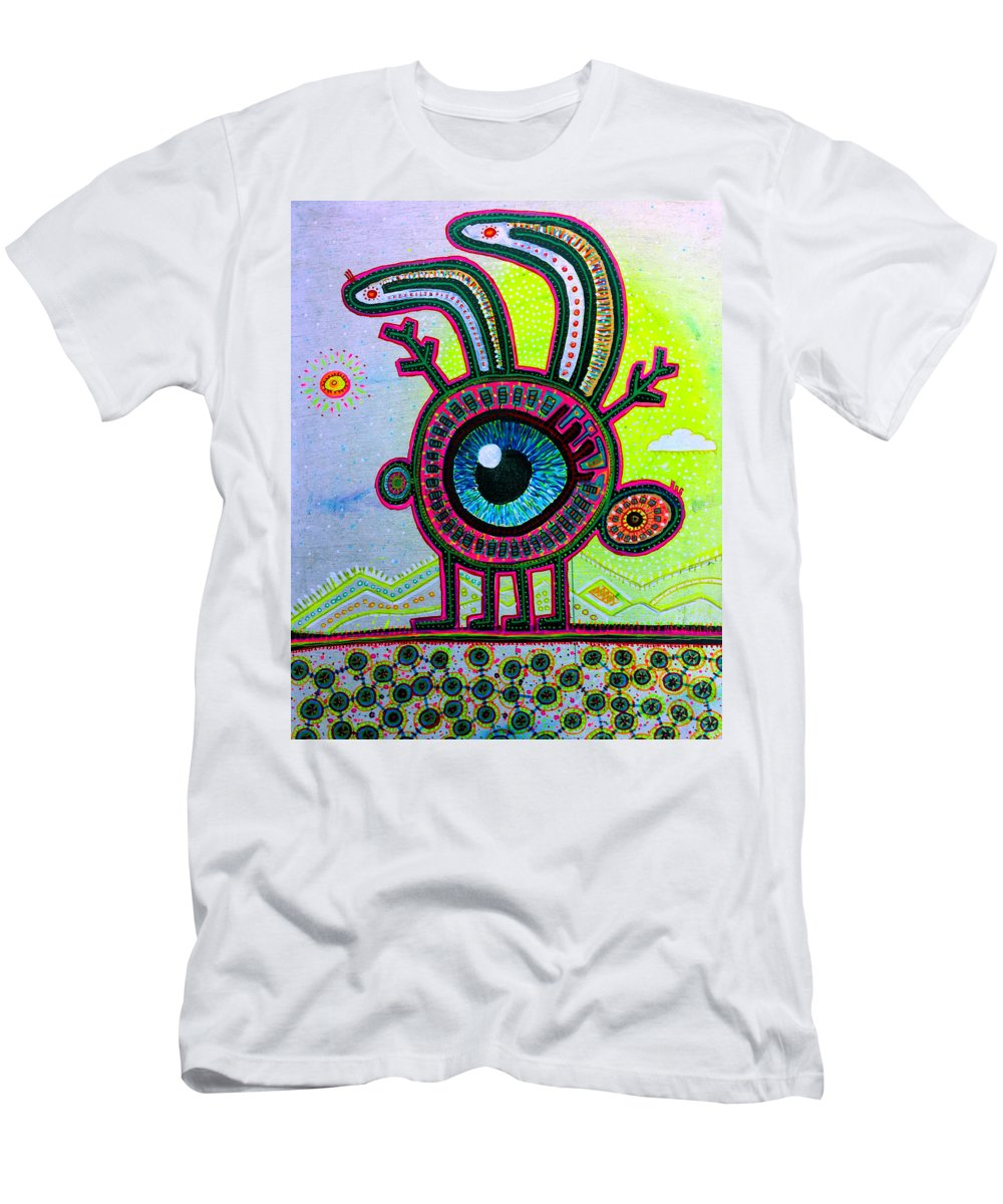Jackalope Men's T-Shirt (Athletic Fit) featuring the painting Jackalope by Howard Weliver