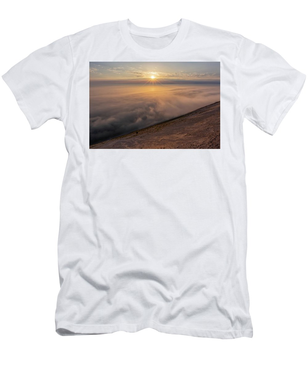 Sleeping Men's T-Shirt (Athletic Fit) featuring the photograph Lake Michigan Overlook 13 by Heather Kenward
