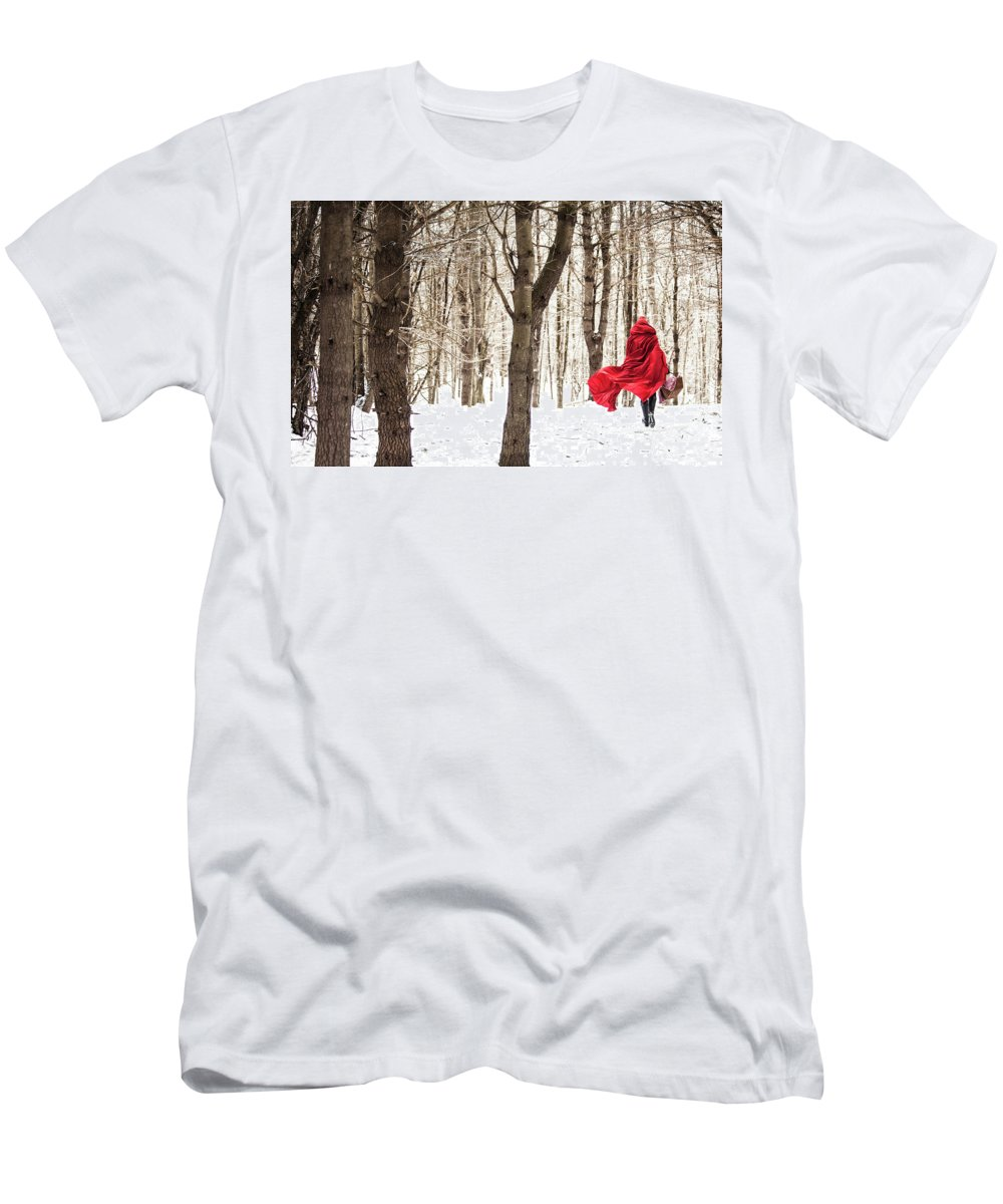 Little Red Riding Hood T-Shirt featuring the photograph Little Red Riding Hood by Trevor Slauenwhite