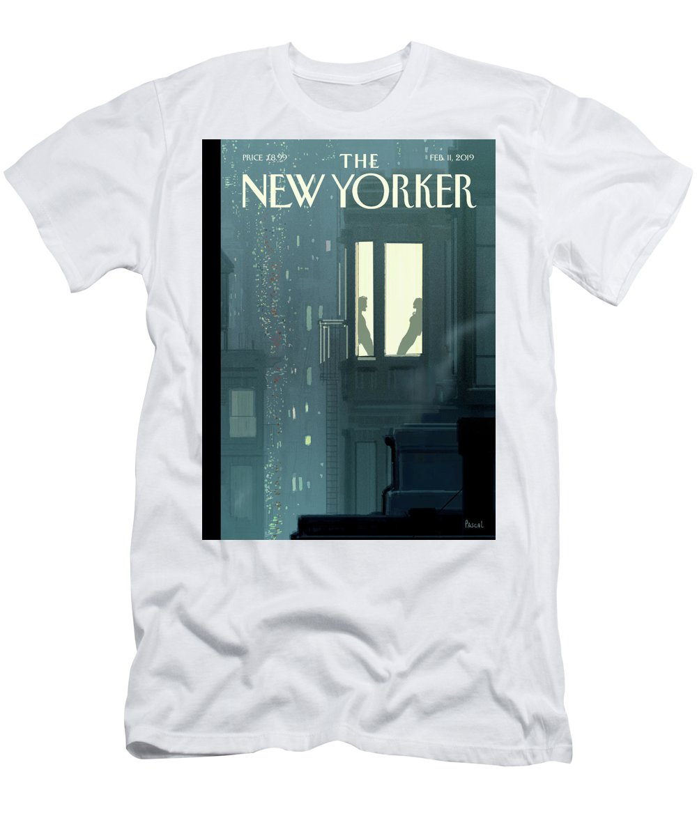 Love Interest T-Shirt featuring the painting Love Interest by Pascal Campion