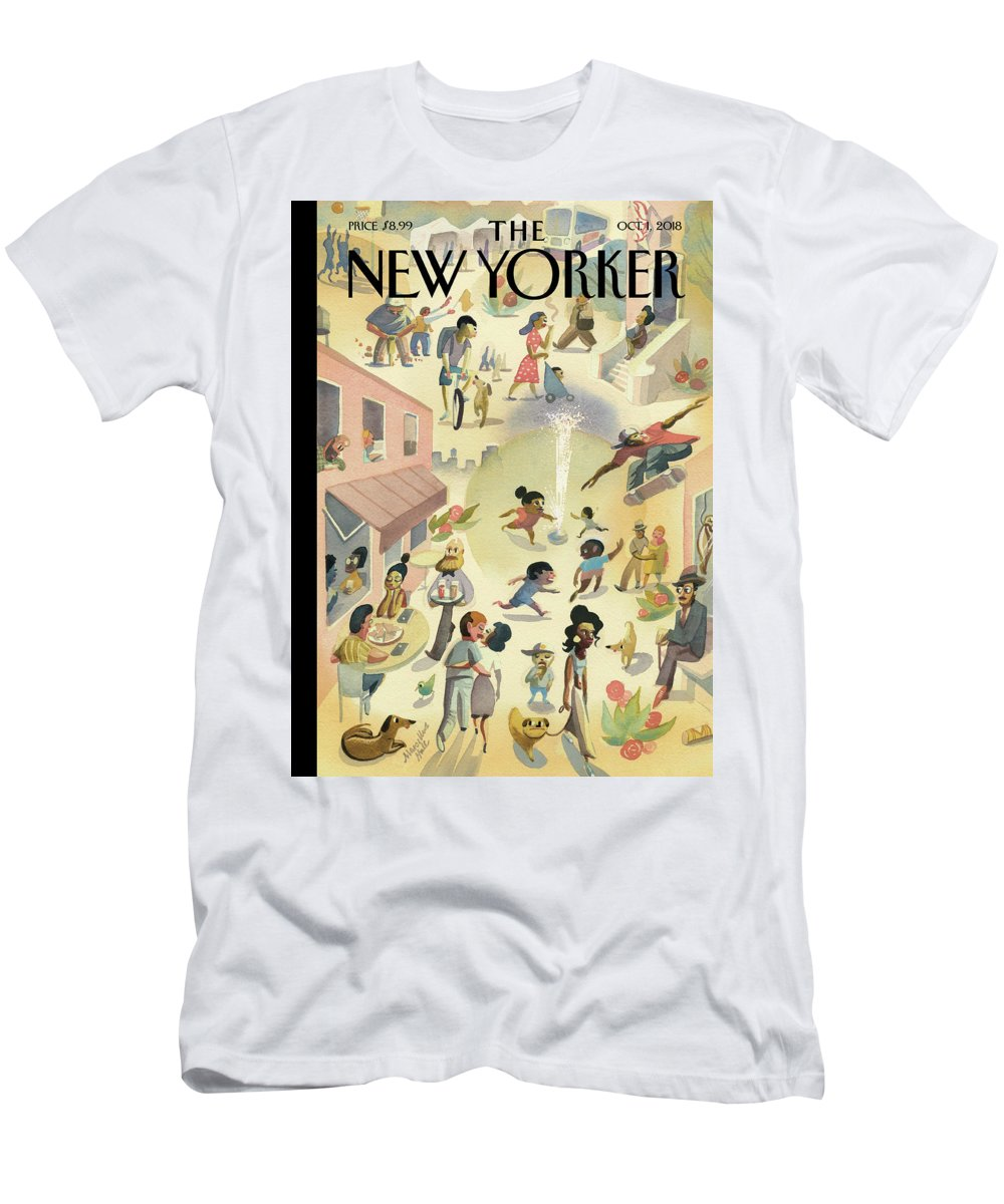 Lower East Side T-Shirt featuring the painting Lower East Side by Marcellus Hall