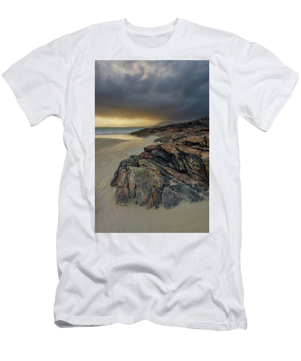 Luskentyre Beach T-Shirt featuring the mixed media Luskentyre Sunset by Smart Aviation