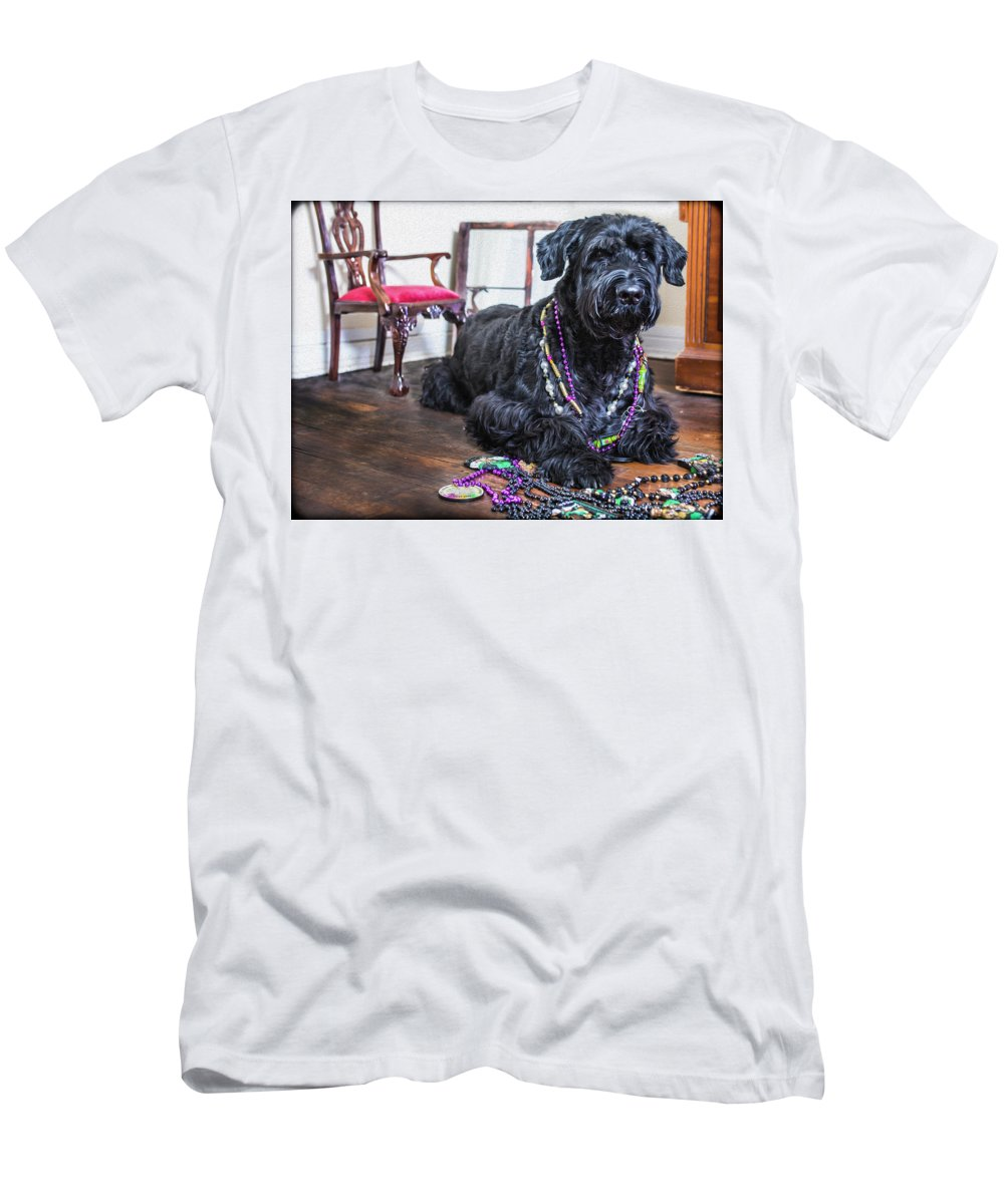 Mardi Gras T-Shirt featuring the photograph Mardi Gras Dog by SL Ernst