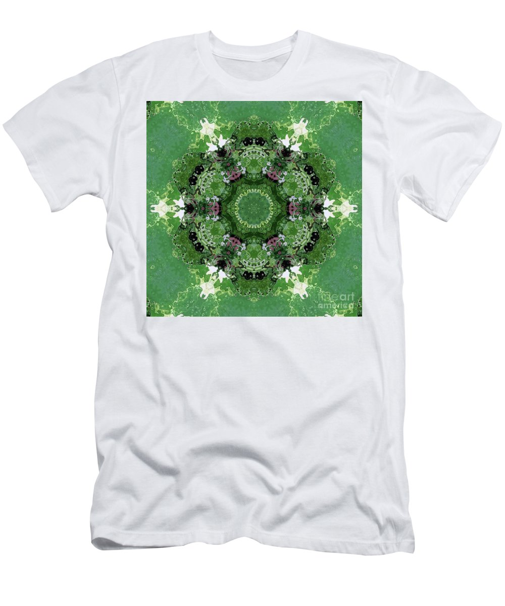 Mossy Green By Janet Merryman Men's T-Shirt (Athletic Fit) featuring the digital art Mossy Green by Janet Merryman