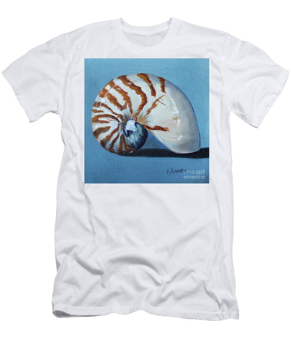 Nautilus Men's T-Shirt (Athletic Fit) featuring the painting Nautilus by Kristine Kainer