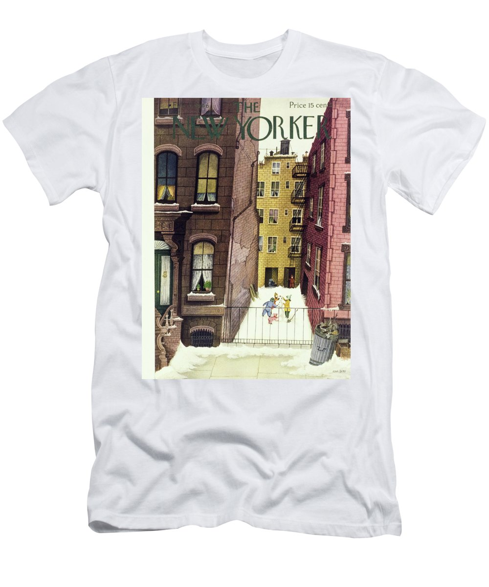 Illustration Men's T-Shirt (Athletic Fit) featuring the painting New Yorker February 2, 1946 by Edna Eicke