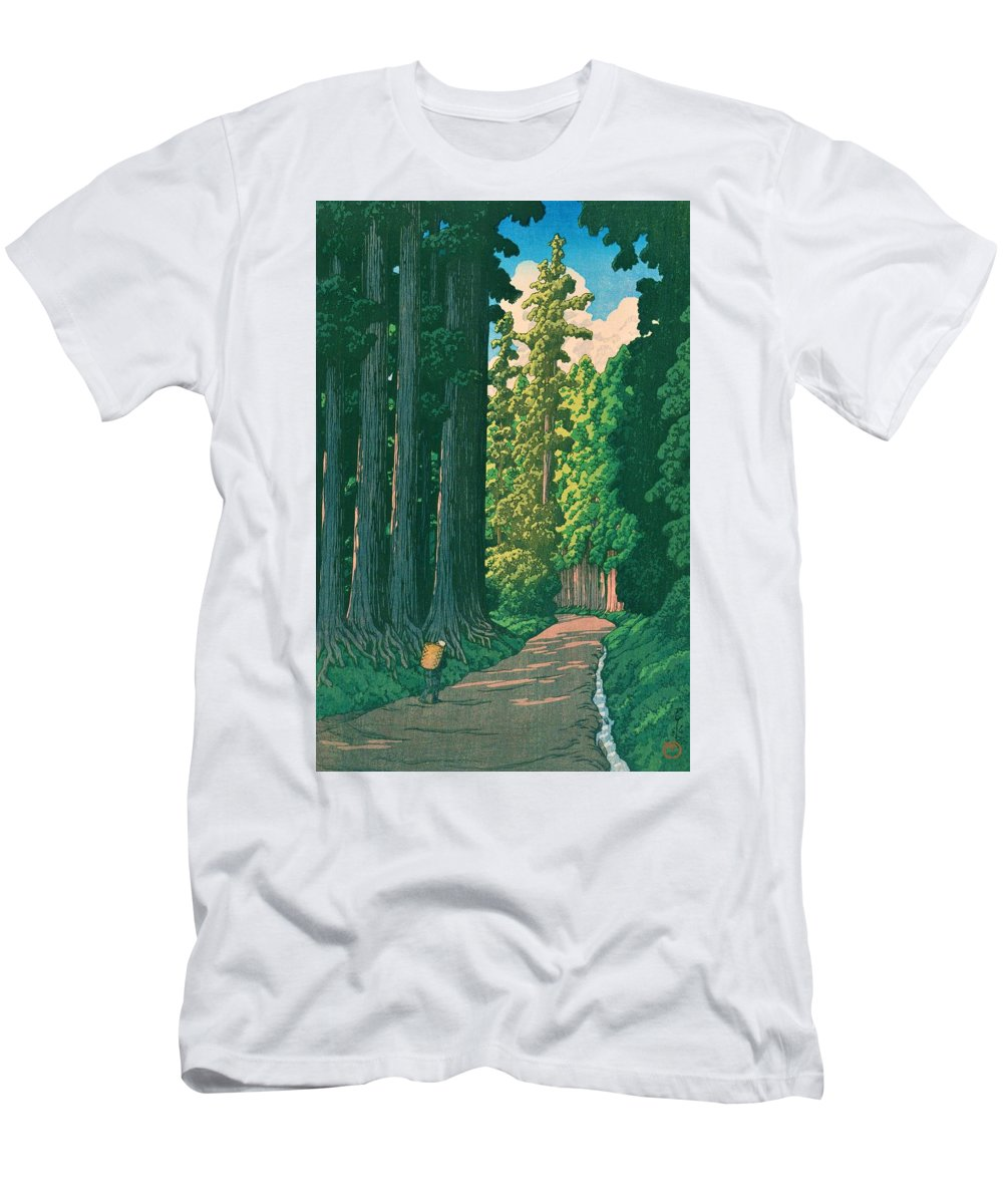 Kawase Hasui T-Shirt featuring the painting NIKKOKAIDO - Top Quality Image Edition by Kawase Hasui