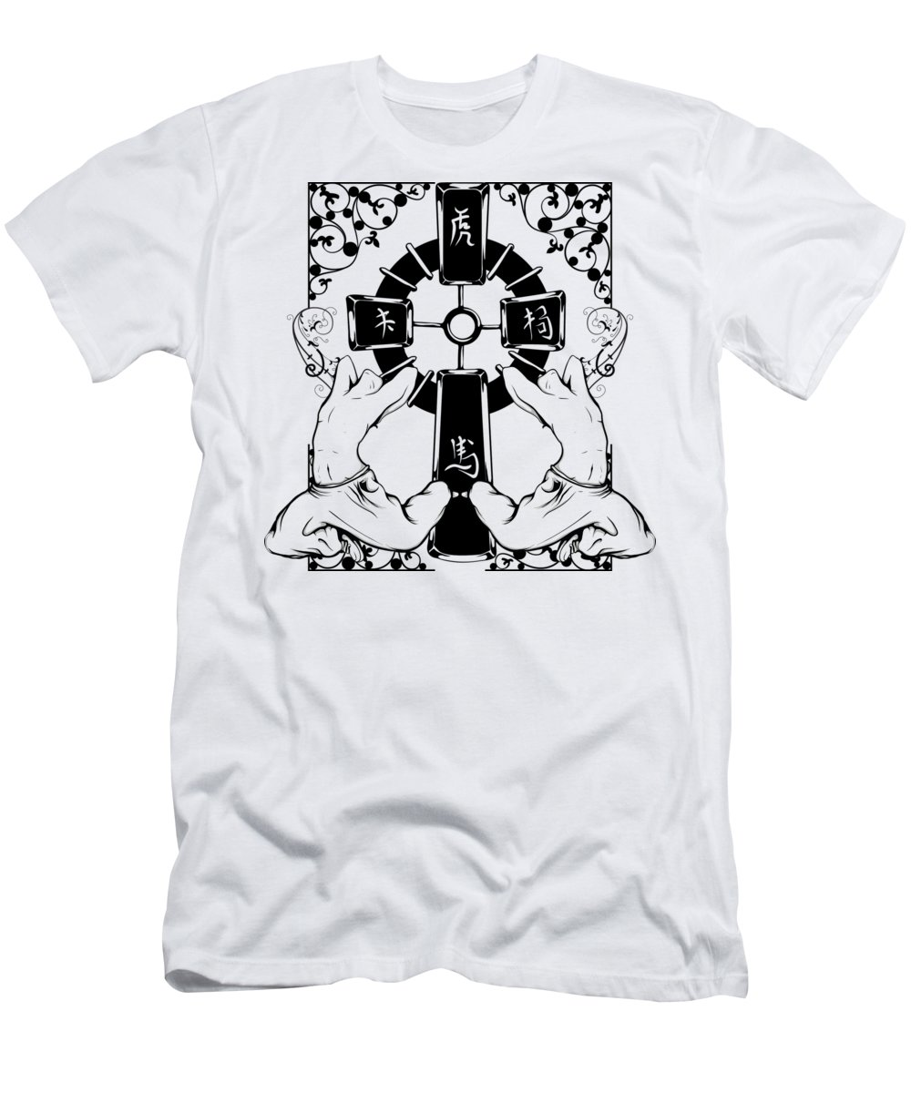 Japanese T-Shirt featuring the digital art Oriental Art by Passion Loft