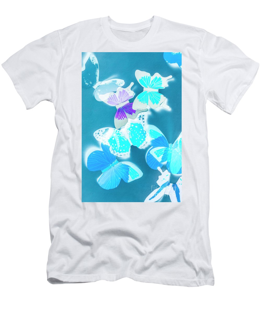 Blue Men's T-Shirt (Athletic Fit) featuring the photograph Out Of The Blue by Jorgo Photography - Wall Art Gallery