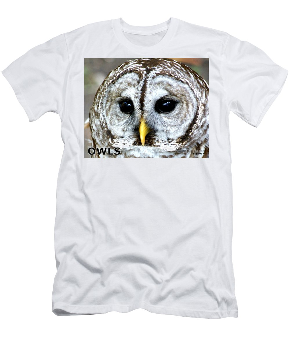Owls Men's T-Shirt (Athletic Fit) featuring the photograph Owls Mascot by Larry Allan