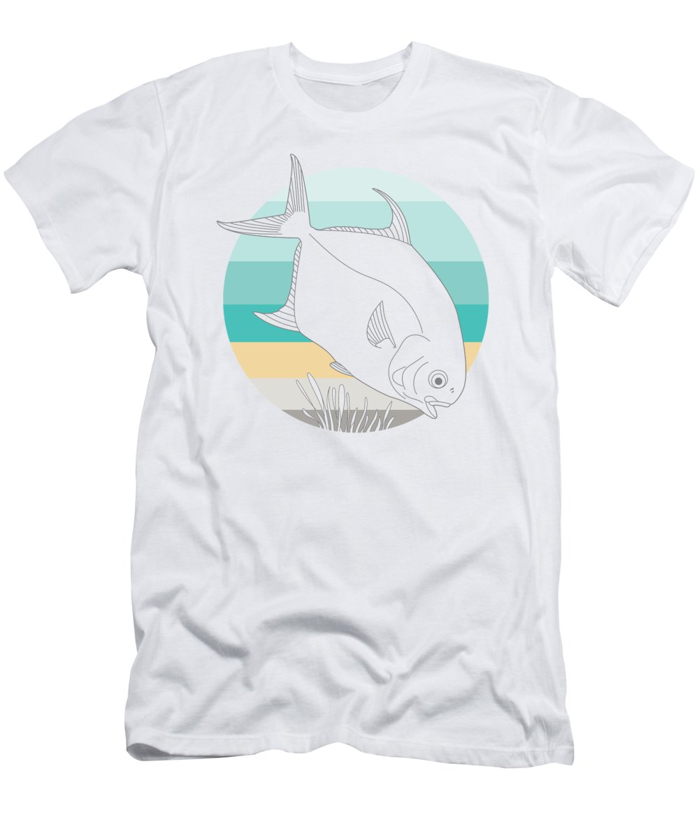 Permit Men's T-Shirt (Athletic Fit) featuring the digital art Permit by Kevin Putman