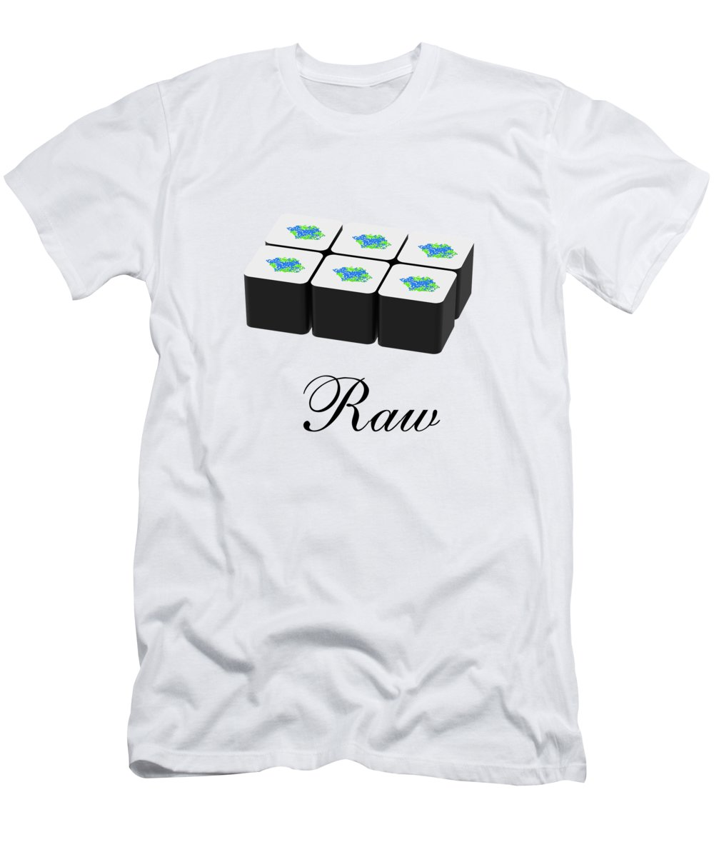 Raw Men's T-Shirt (Athletic Fit) featuring the mixed media Raw by Danielle Acevedo