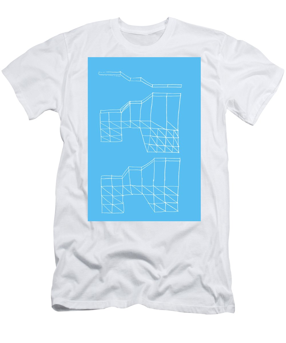 Yifat Gat Men's T-Shirt (Athletic Fit) featuring the drawing Robotricks by Yifat Gat