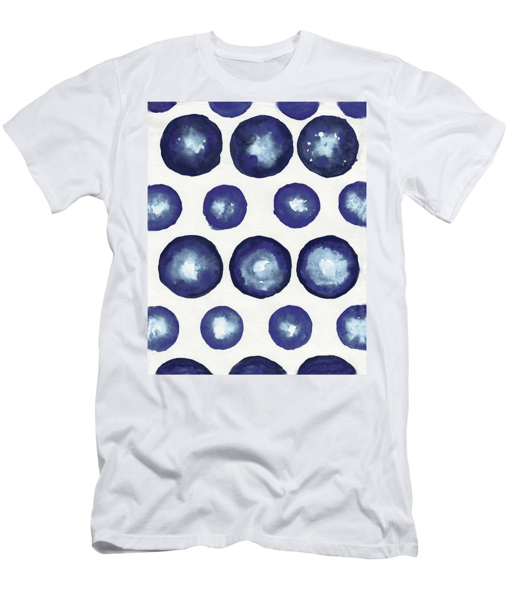 Shibori T-Shirt featuring the mixed media Shibori Dots by Elizabeth Medley