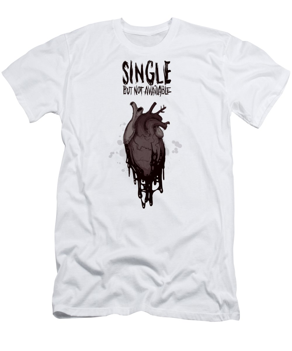 Single Men's T-Shirt (Athletic Fit) featuring the drawing Single by Ludwig Van Bacon