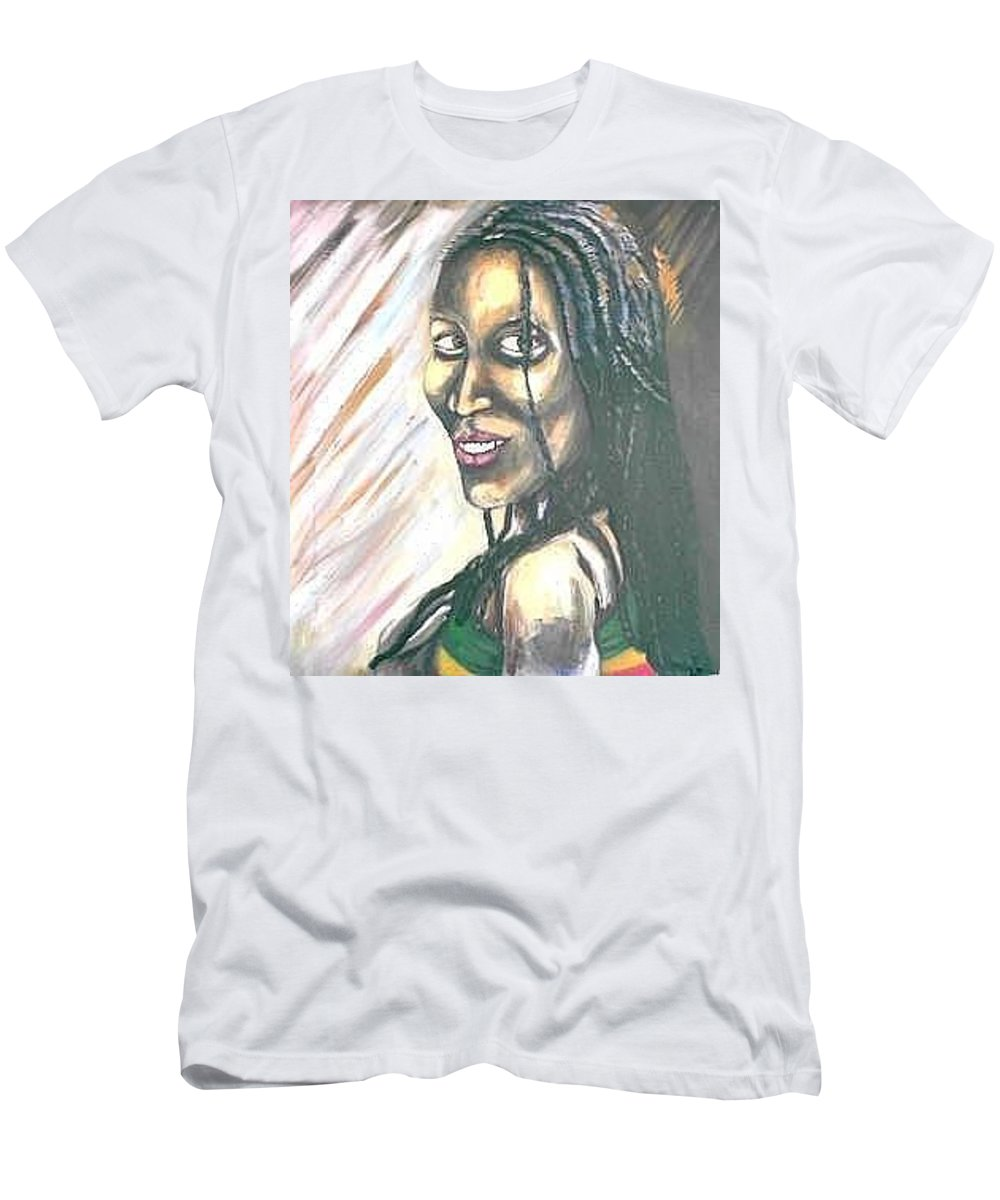 T-Shirt featuring the painting Sister by Andrew Johnson