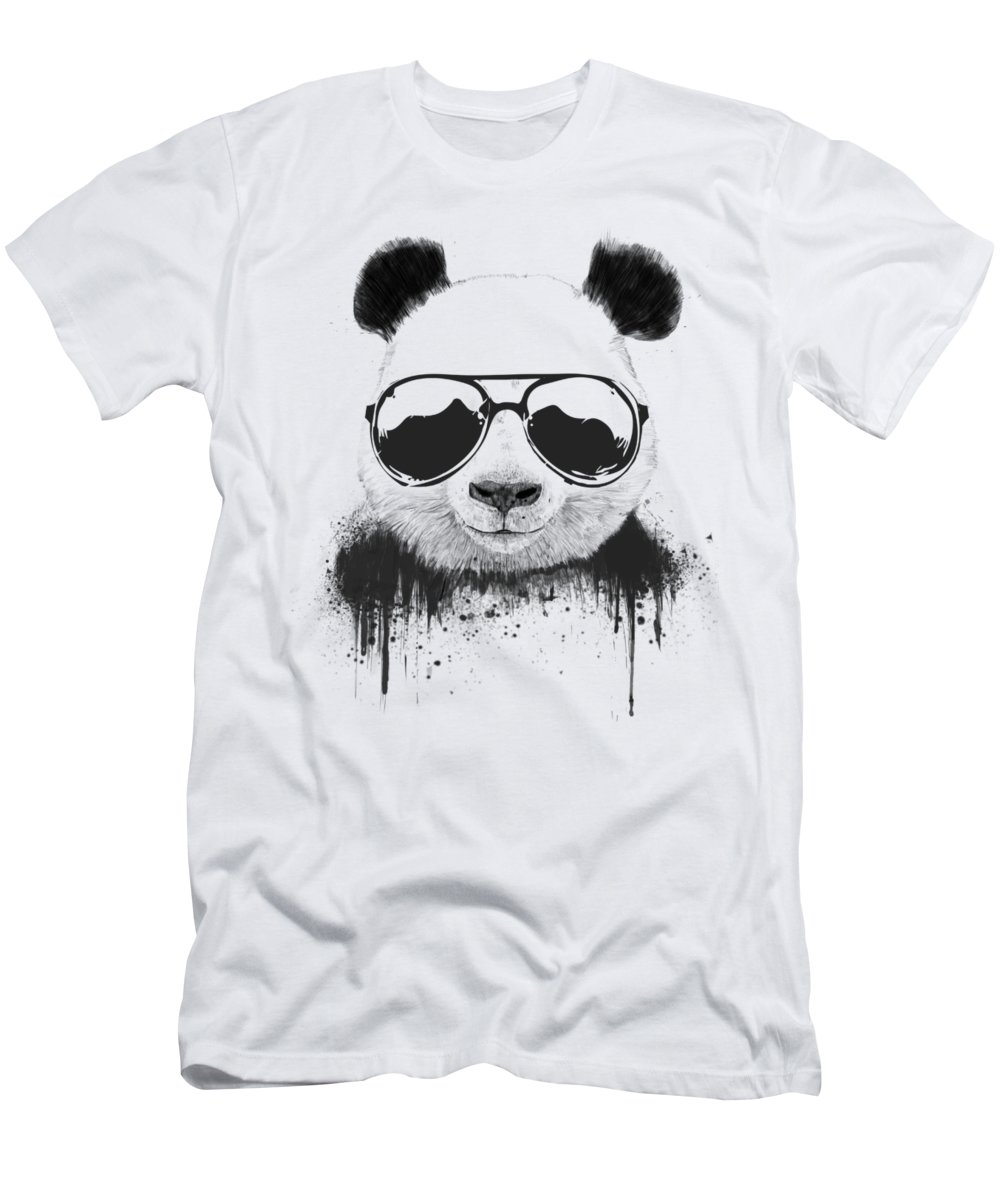 Panda T-Shirt featuring the mixed media Stay Cool by Balazs Solti