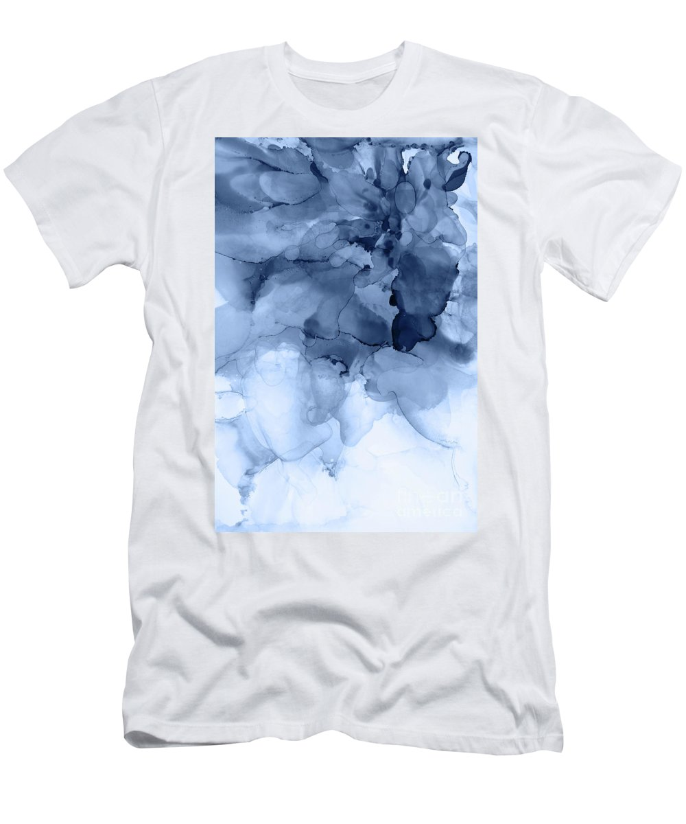 Navy Men's T-Shirt (Athletic Fit) featuring the painting Stormy Weather by PrintsProject