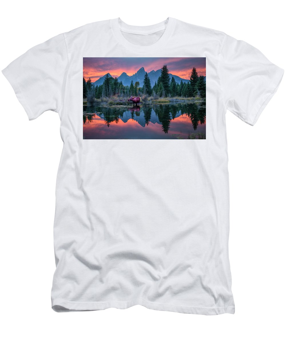North America Men's T-Shirt (Athletic Fit) featuring the photograph Teton Moose by Christian Heeb