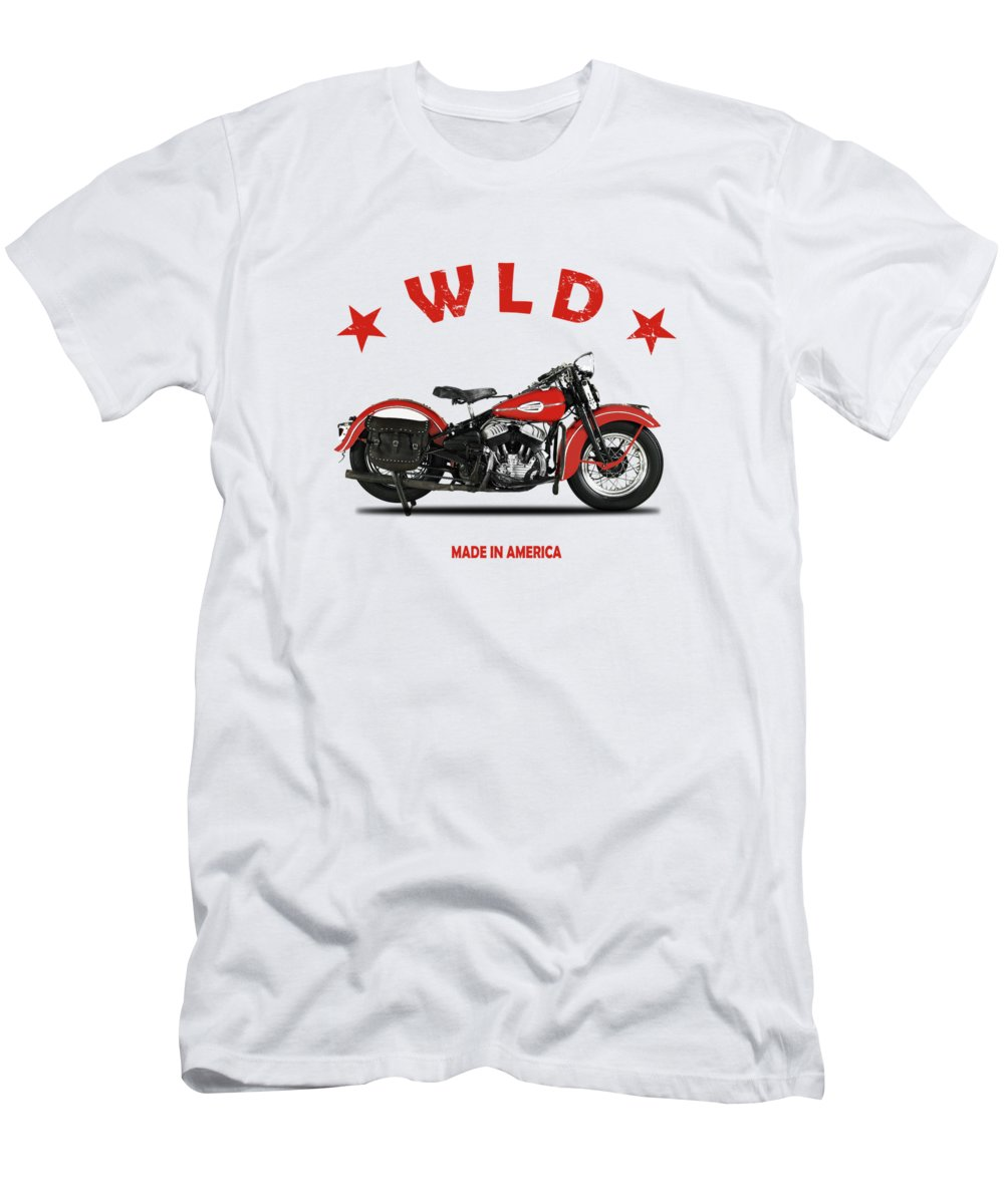 Harley Davidson T-Shirt featuring the photograph The Harley WLD Motorcycle 1941 by Mark Rogan