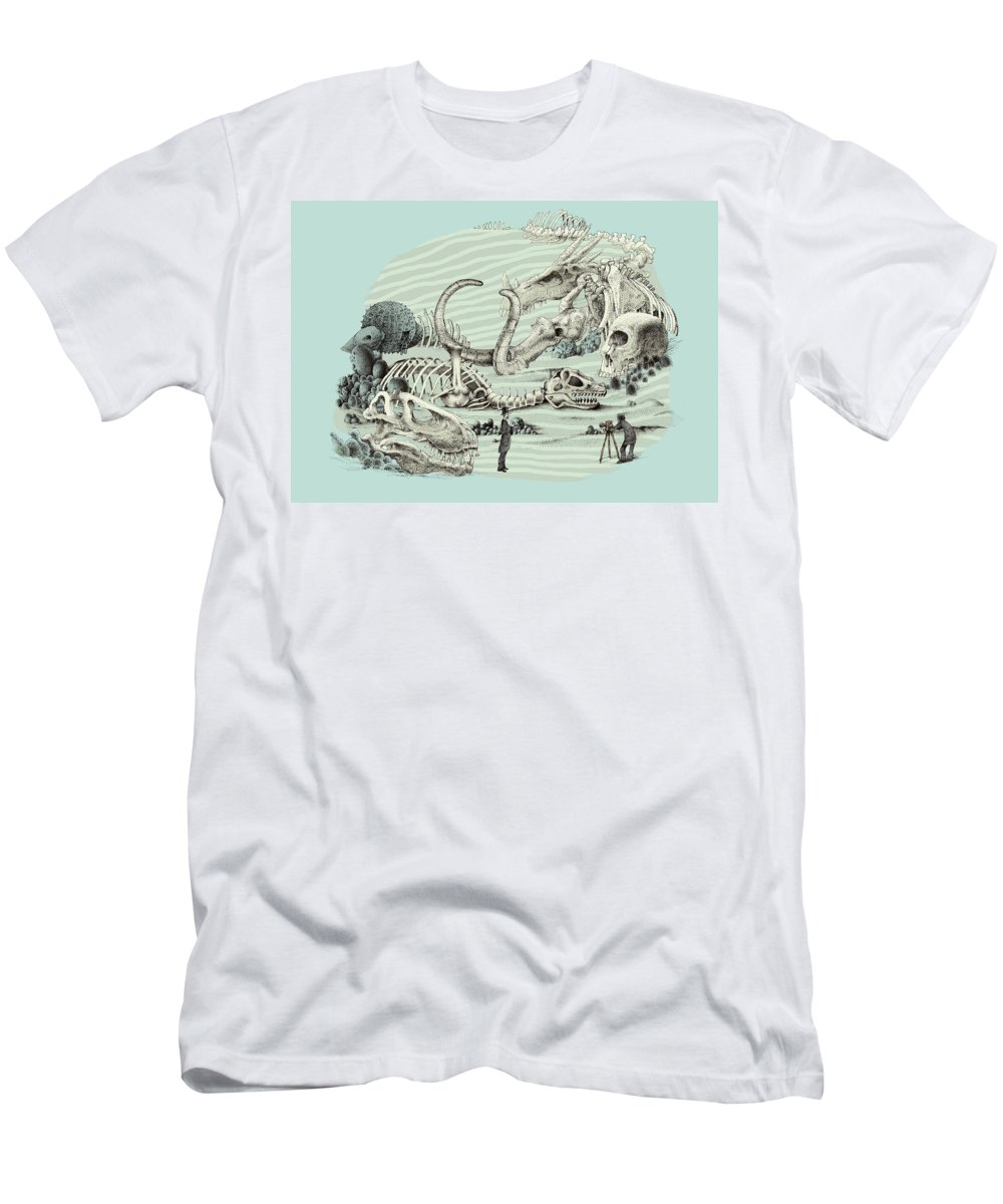 Vintage T-Shirt featuring the drawing The Lost Beach by Eric Fan