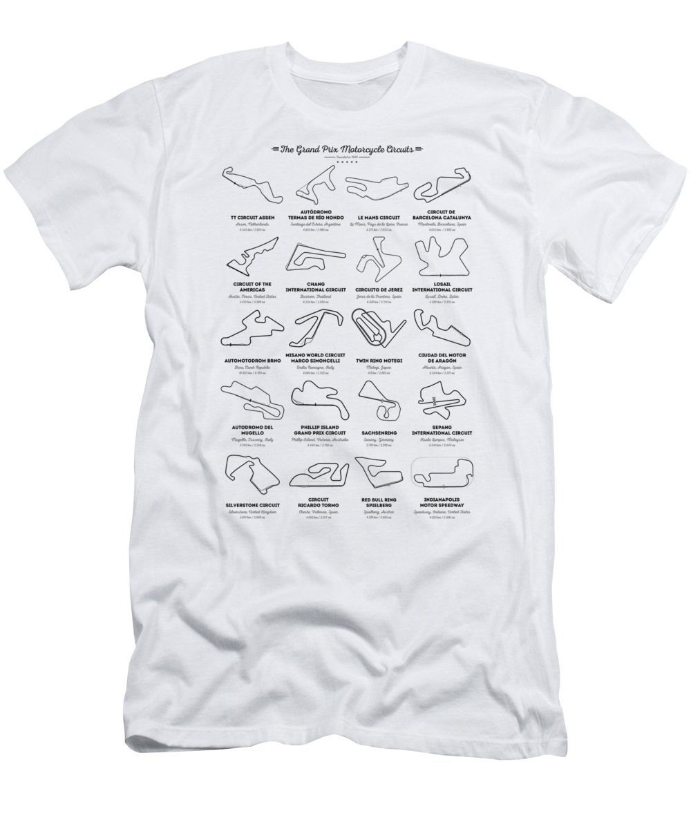 c553bf66 The Motogp Circuits T-Shirt for Sale by Zapista Zapista