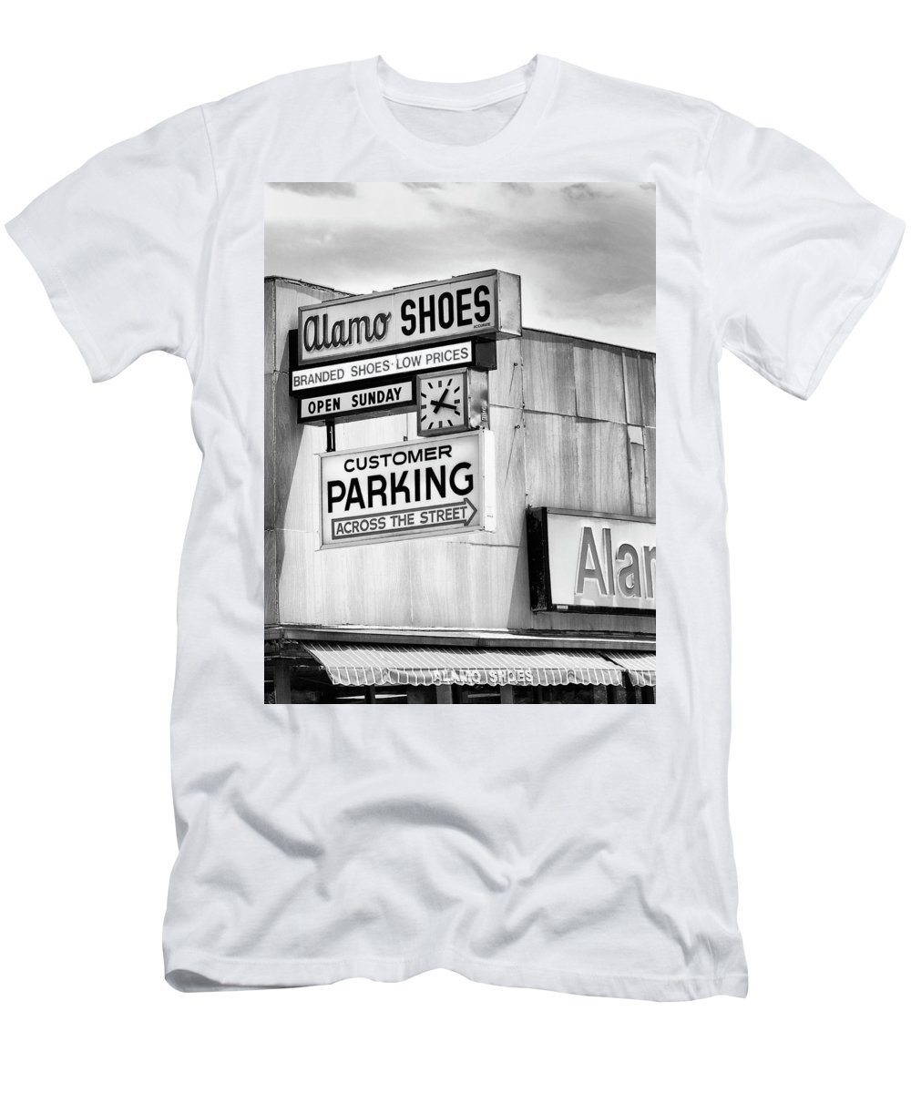 Shoe Men's T-Shirt (Athletic Fit) featuring the photograph These Shoes Alamo Shoes by William Dey