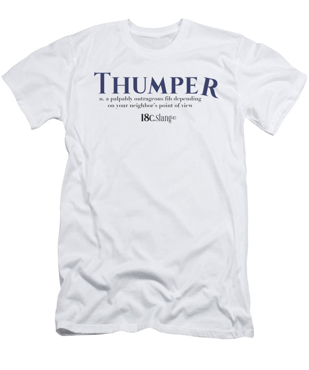 America Men's T-Shirt (Athletic Fit) featuring the digital art Thumper by 18th Century Slang